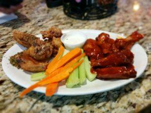 Cajun and Honey BBQ Wings
